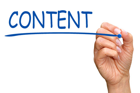 content writing: Content Stock Photo