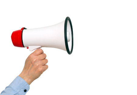 proclaim: Megaphone Stock Photo