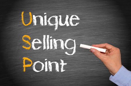 selling points: USP - Unique Selling Point Stock Photo