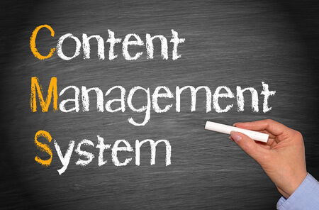CMS - Content Management System Stock Photo - 26795839