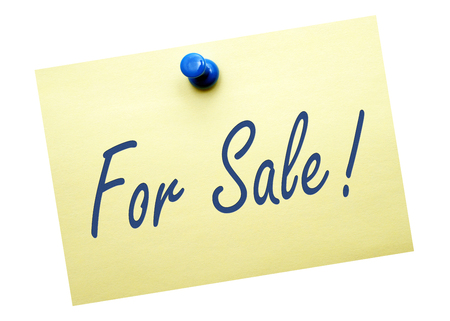 pinboard: For Sale Stock Photo