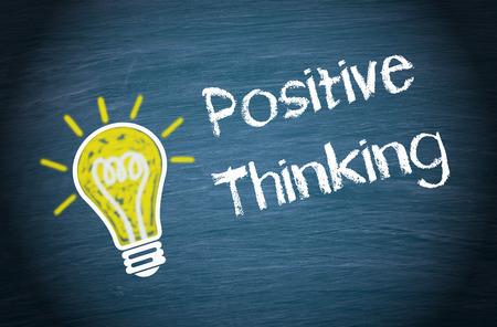 La pensée positive Banque d'images