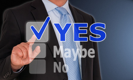 YES - positive opinion Stock Photo - 27080790