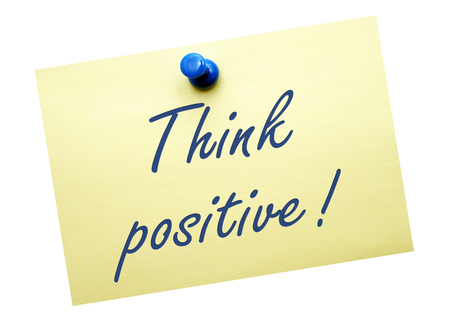 actitud positiva: Piensa en positivo Foto de archivo