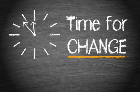 Tijd voor verandering Stockfoto