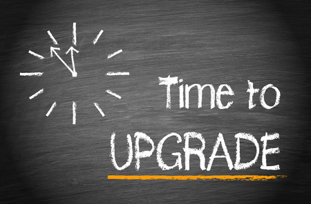 better business: Time to upgrade text on chalkboard