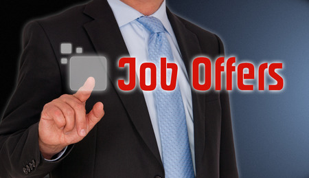 joblessness: Job Offers Stock Photo