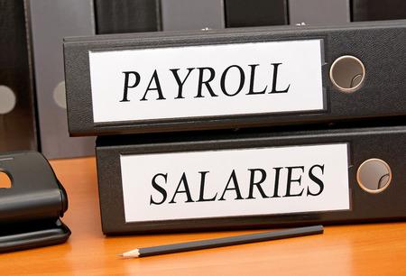 Payroll and Salaries Stock Photo