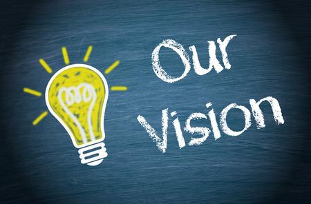 planificacion estrategica: Nuestra Visión Foto de archivo