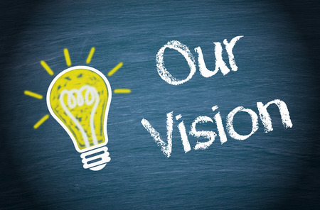 successful strategy: Our Vision Stock Photo