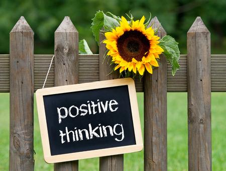 actitud positiva: pensamiento positivo