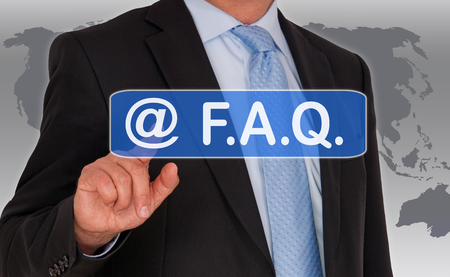 asked: FAQ - Frequently Asked Questions Stock Photo