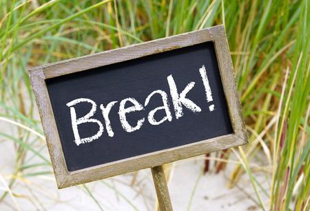 lunch break: Break   Stock Photo