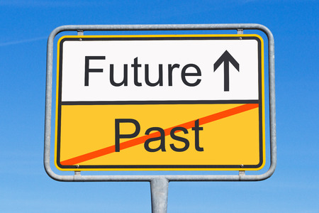 Future and Past - Concept Sign Stock Photo