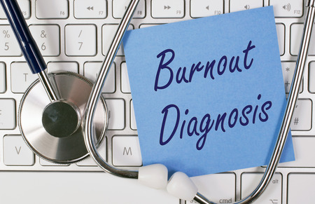 Burnout Diagnose Stockfoto