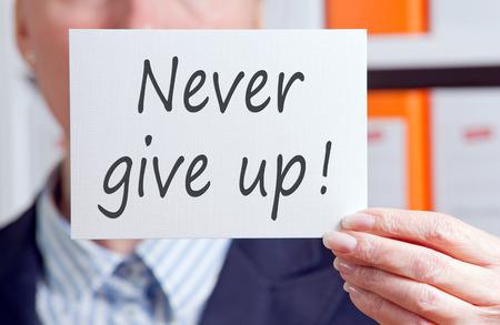 nunca: Nunca te rindas