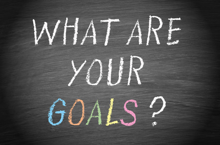 your: What are your goals   Stock Photo