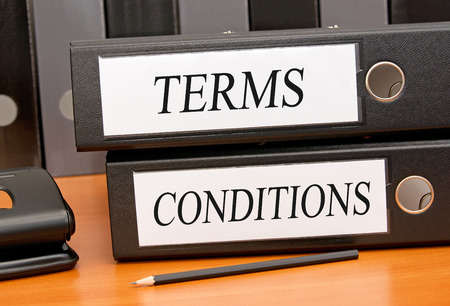 office use: Terms and Conditions