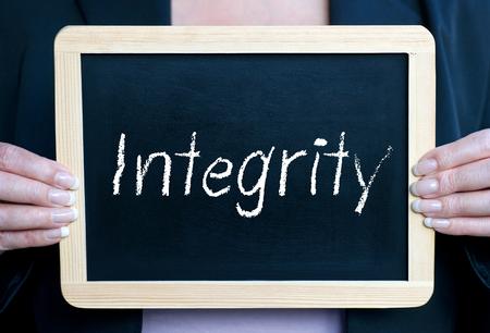 valores morales: Integridad Foto de archivo