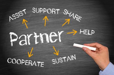 Partner - Concepto de negocio Foto de archivo