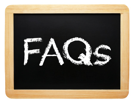 FAQs - Frequently Asked Questions Stock Photo