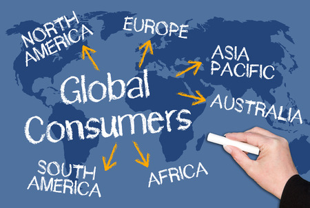 import: Global Consumers Stock Photo