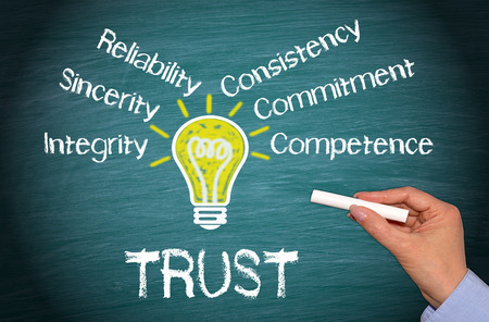 consistency: Trust - Business Concept