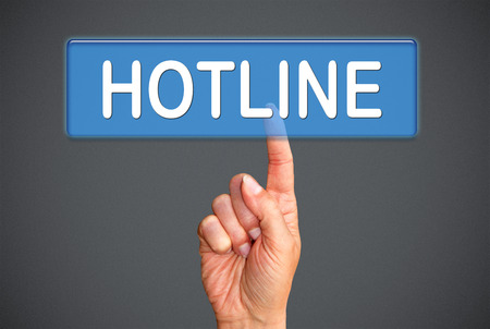 hotline: Hotline Stock Photo