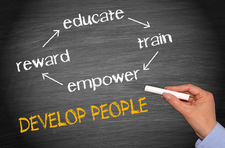 develop: Develop People Stock Photo