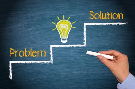Problem - Idea - Solution photo