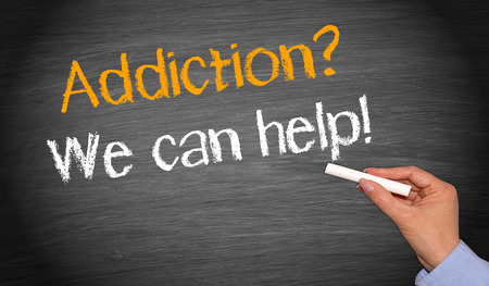 substance: Addiction   - We can help   Stock Photo