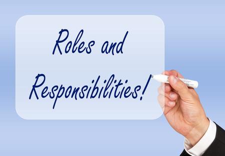responsabilidad: Roles y Responsabilidades Foto de archivo