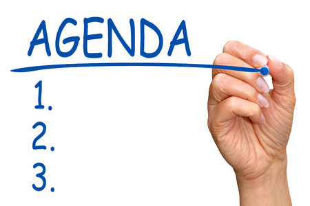 Agenda Topics Stock Photo