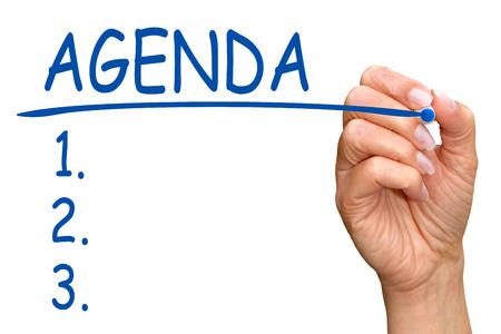 programs: Agenda Topics Stock Photo