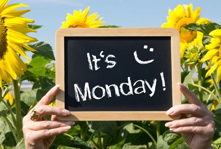 それは月曜日です。