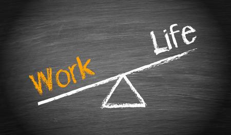 imbalance: Werk en Leven onbalans Stockfoto