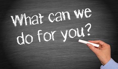 Cosa possiamo fare per voi