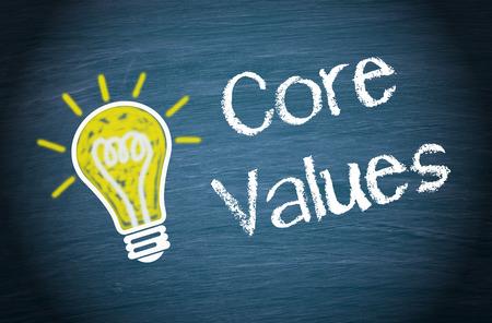 valor: Valores Fundamentales Foto de archivo