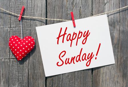amabilidad: Feliz domingo Foto de archivo