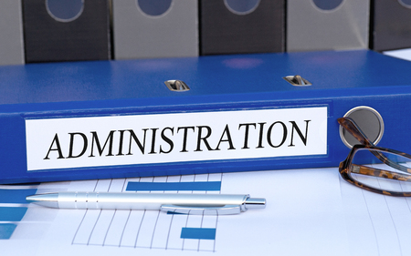 systems operations: Administration Stock Photo