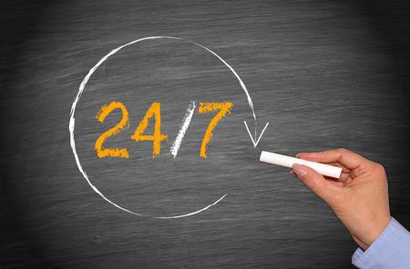 24 7 - Business around the clock photo