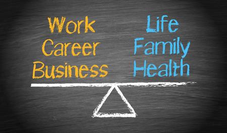 gesundheitsmanagement: Work-Life-Balance  Lizenzfreie Bilder