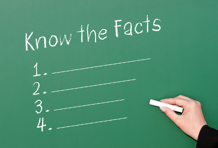 facts: Know the Facts Stock Photo