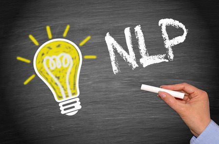 linguistics: NLP - Neuro-Linguistic Programming Stock Photo