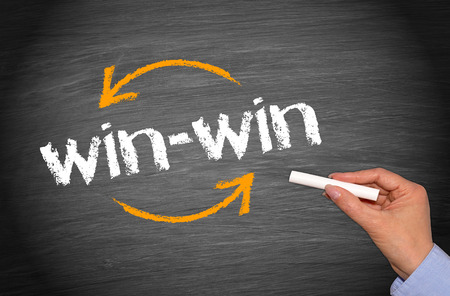 compromise: win-win Situation - Business Concept Stock Photo