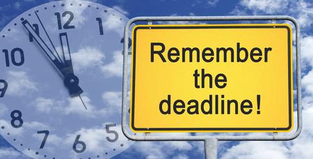 Remember the deadline photo
