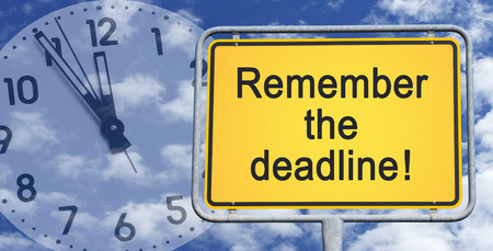 Remember the deadline