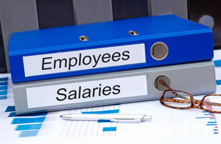 財源: 従業員と給与 写真素材