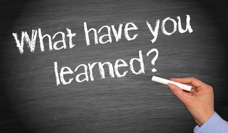 lernte: Was haben Sie gelernt