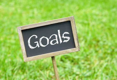 set goals: Goals Stock Photo